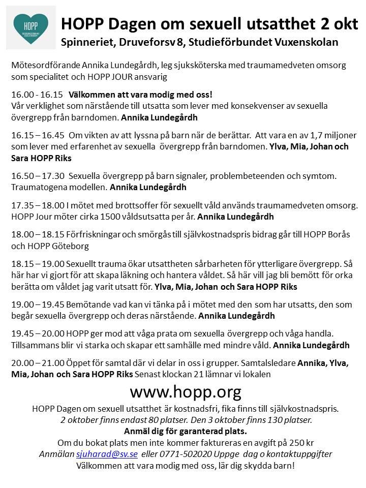 HOPP Dagen 2 okt
